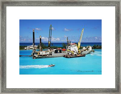 Working In Paradise Framed Print
