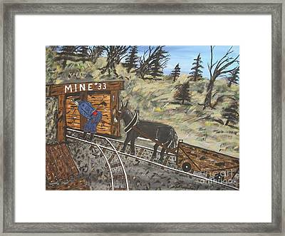 The Coal Mine Framed Print