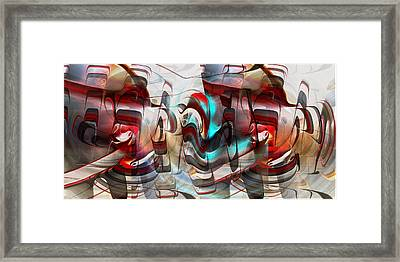 Framed Print featuring the digital art Working Machine In Color by rd Erickson