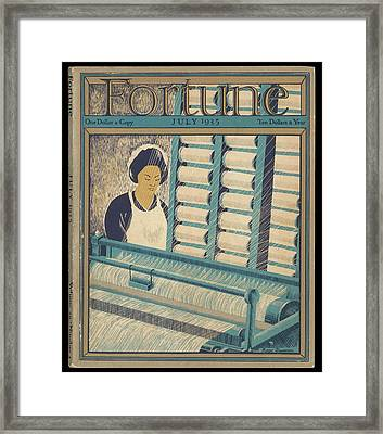 Working On A Cotton Loom          Date Framed Print by Mary Evans Picture Library
