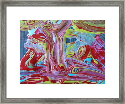 Working On It Framed Print by Artist Ai
