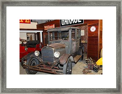 Working On The Old Ford Model T 5d25570 Framed Print by Wingsdomain Art and Photography