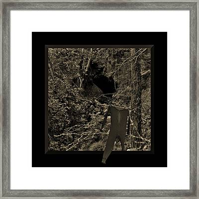 Working The Claim Framed Print by Barbara St Jean