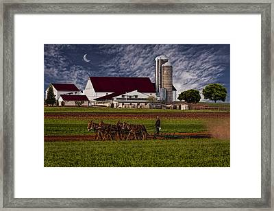 Working The Fields Framed Print by Susan Candelario