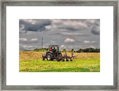 Working The Land Framed Print