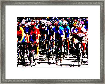 Working Together To Catch The Leader Framed Print by David Bearden