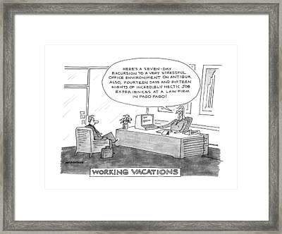 Working Vacations Framed Print