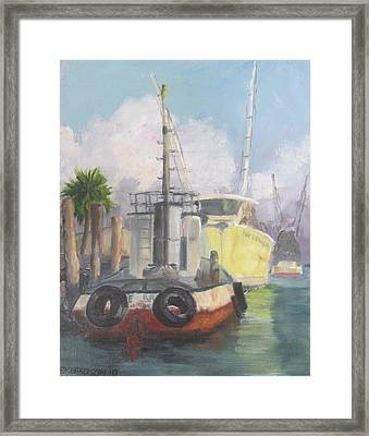 Working Waterfront Framed Print