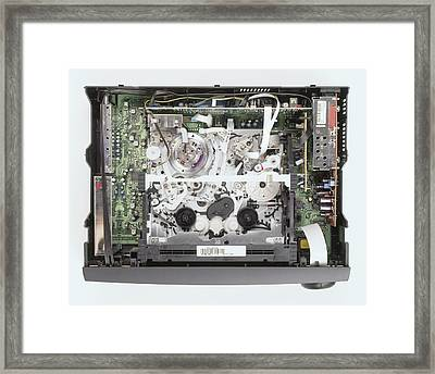 Workings Of Video Cassette Recorder Framed Print by Dorling Kindersley/uig