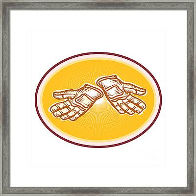 Workman Utility Gloves Retro Framed Print by Aloysius Patrimonio