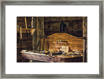 Workman's Bench Framed Print