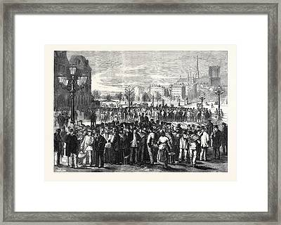 Workmen Waiting To Be Engaged In The Place Of The Hotel De Framed Print