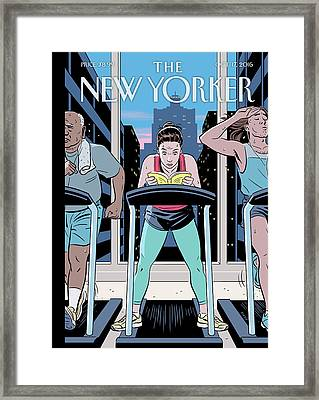 Workout Reading Framed Print