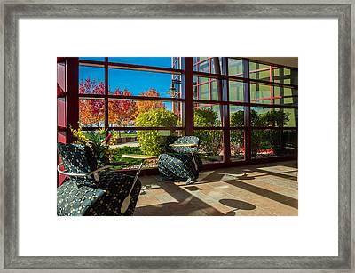 Workplace With A View Framed Print by Gene Sherrill