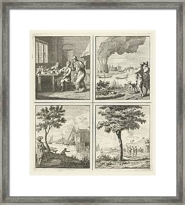 Workshop Burning Building Driving Tree On The Water Framed Print by Quint Lox