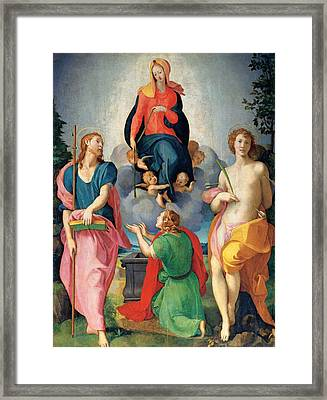 Workshop Carrucci Jacopo Detto Il Framed Print by Everett