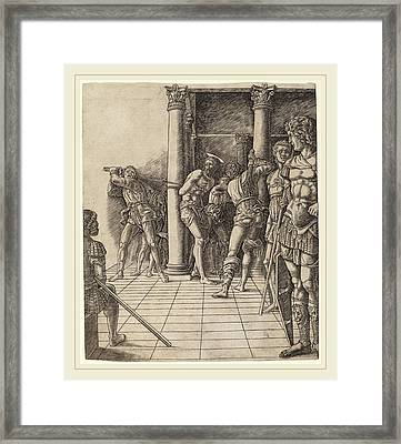 Workshop Of Andrea Mantegna Or Attributed To Zoan Andrea Framed Print