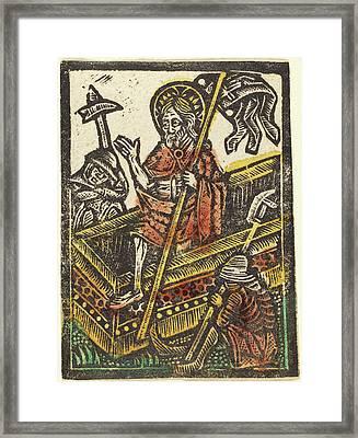 Workshop Of Master Of The Aachen Madonna, The Resurrection Framed Print
