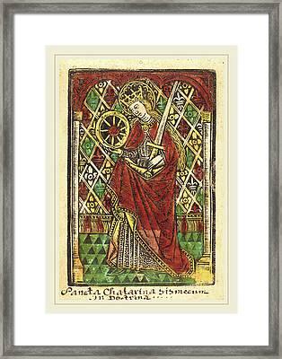 Workshop Of Master Of The Protective Saints Of Cologne Framed Print