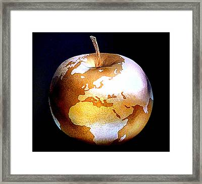 World Apple Framed Print by The Creative Minds Art and Photography