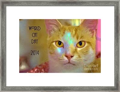World Cat Day Framed Print