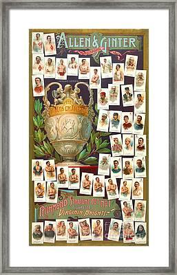 World Champion Athletes 1884 Framed Print by Padre Art