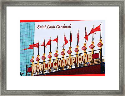 World Champions Flags Framed Print