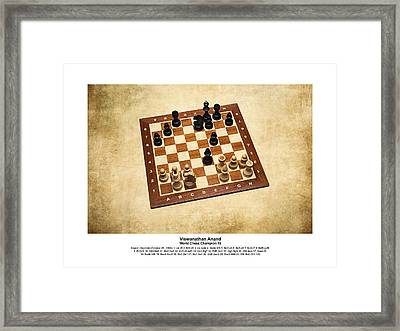 World Chess Champions - Viswanathan Anand - 1 Framed Print by Alexander Senin