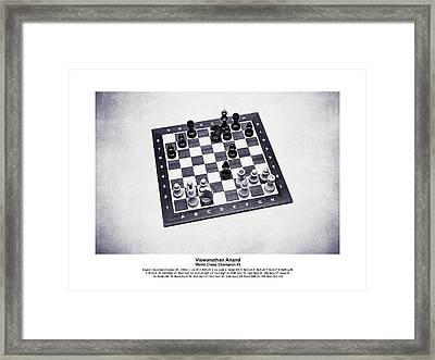 World Chess Champions - Viswanathan Anand - 2 Framed Print by Alexander Senin