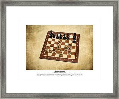 World Chess Champions - Wilhelm Steinitz - 1 Framed Print by Alexander Senin