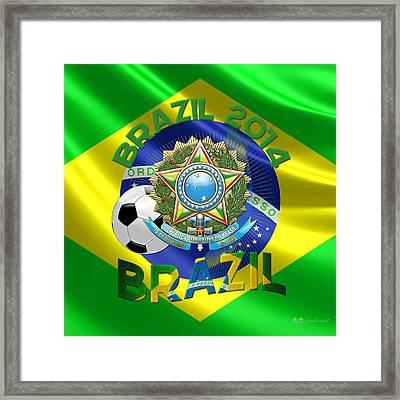 World Cup 2014 - Team Brazil Framed Print by Serge Averbukh