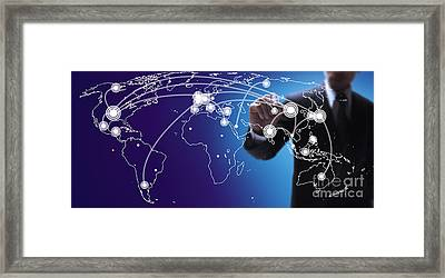 World Economies Map Framed Print