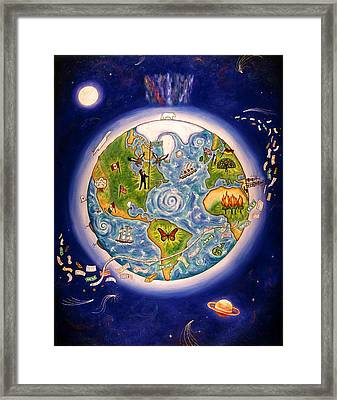 World Economy Framed Print by Linda Mears