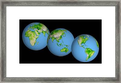 World Globes Framed Print