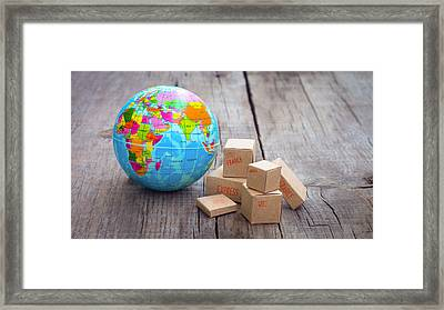 World Import And Export Framed Print by Aged Pixel