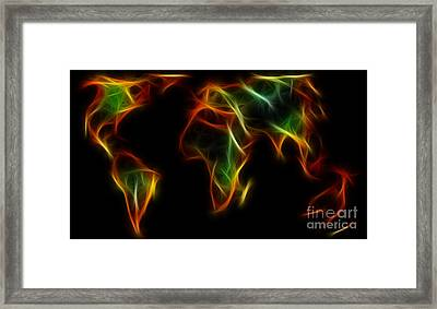 World Impressions - Abstract World Framed Print by Kaye Menner