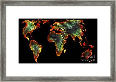 World Impressions - Colorful World Framed Print by Kaye Menner