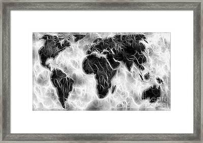 World Impressions - Cyclonic World Framed Print by Kaye Menner