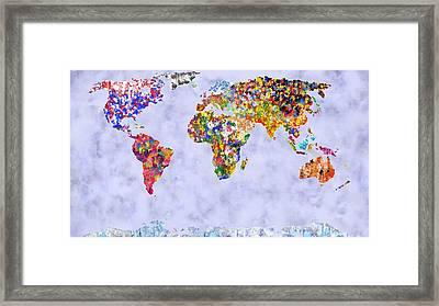 World In Colour Foggy Oceans Framed Print