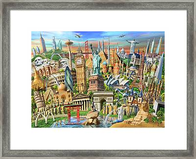 World Landmarks Collection Framed Print
