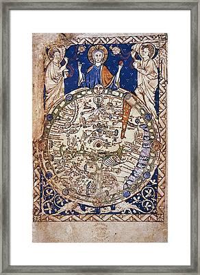 World Map, 13th Century Framed Print