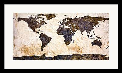 Expressionism Earth Framed Prints