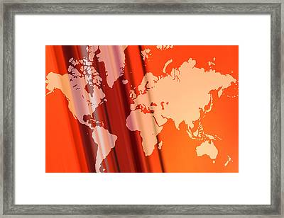 World Map Abstract Framed Print by Modern Art Prints