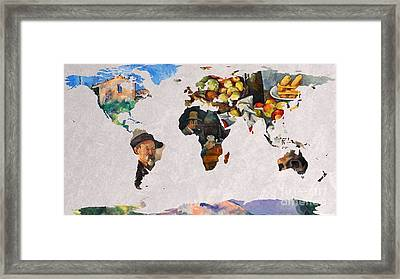World Map Cezanne 3 Framed Print