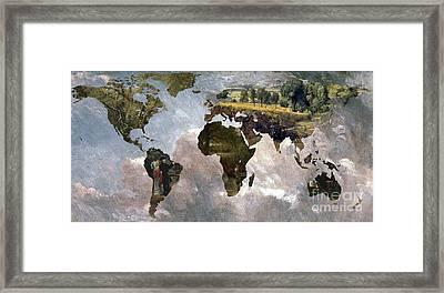 World Map  Constable  Framed Print by John Clark