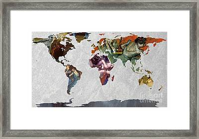 World Map   Degas 4 Framed Print by John Clark