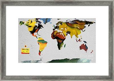 Franz Marc 4 World Map Framed Print