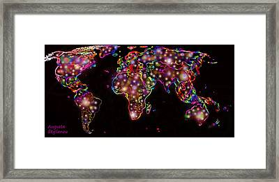 World Map In The Future Framed Print