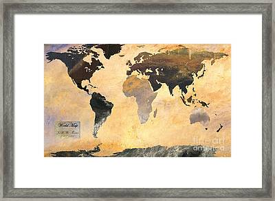 World Map   Turner 1 Framed Print by John Clark