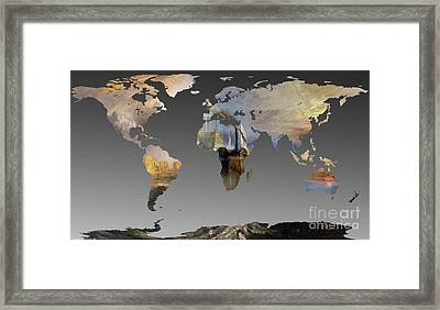 World Map  Joseph Turner 2 Framed Print by John Clark